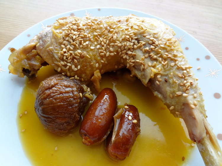 Recette de cuisses de poulet au miel et fruits moelleux - Cuisiner des blancs de poulet moelleux ...
