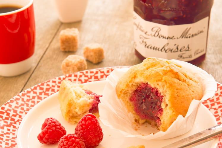 Muffins cœur de confiture de Framboises Bonne Maman®