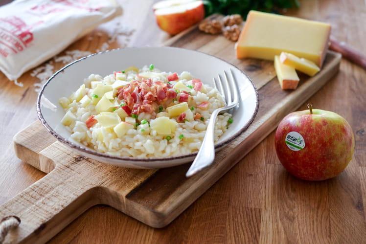 Risotto à la pomme Antarès, comté et bacon