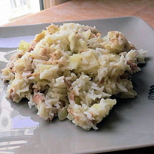 risotto tout doux au thon et au petit-suisse