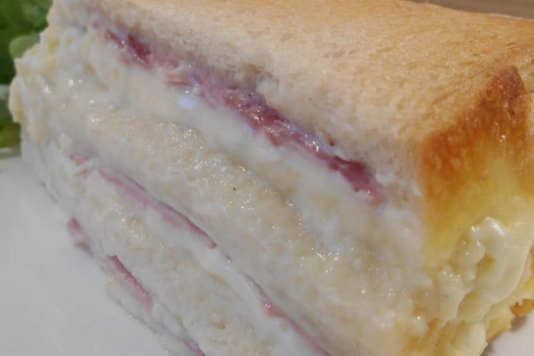 Croque cake au jambon