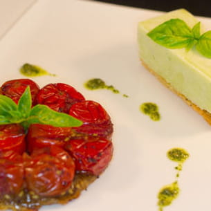 tomates et basilic comme un dessert