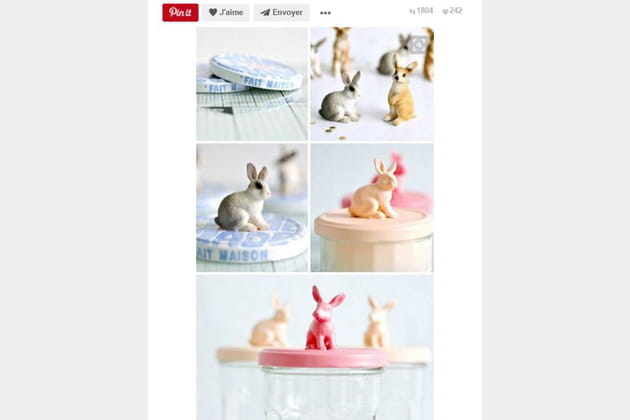 Maison jar figurines lapins