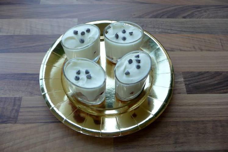 Verrines chocolat blanc et framboises