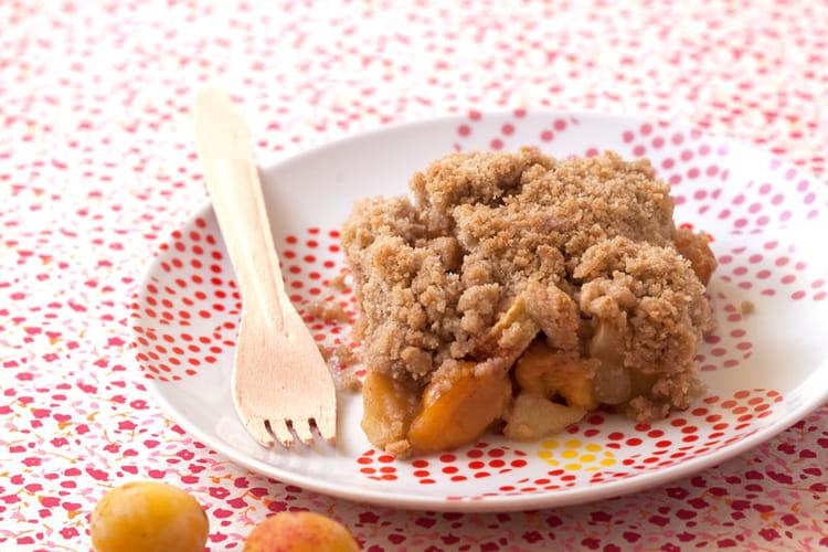 Crumble pommes mirabelles au sorgho
