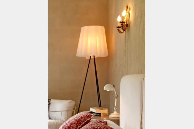 abat jour recouvert d 39 un tissu. Black Bedroom Furniture Sets. Home Design Ideas
