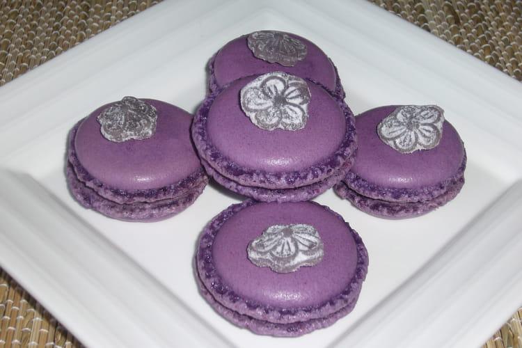 Macarons à la violette