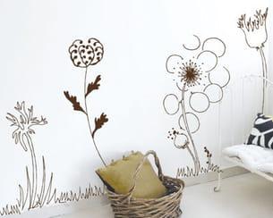 sticker 'fleurs des champs' de kalideco