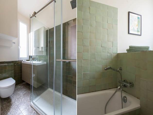 Salles de bains vert d'eau