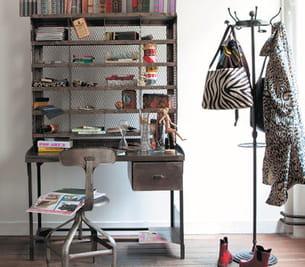 secr taire t l graphe en m tal de maisons du monde. Black Bedroom Furniture Sets. Home Design Ideas