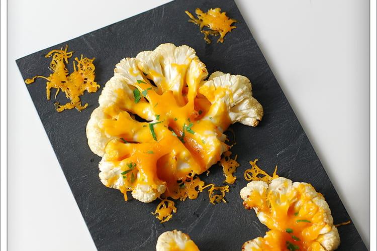 Steak chou fleur à la mimolette