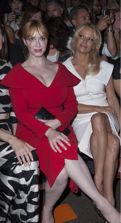 Christina Hendricks et Pamela Anderson