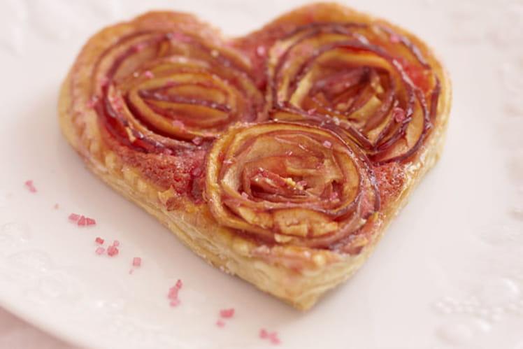 Tarte aux pommes en bouquet de roses