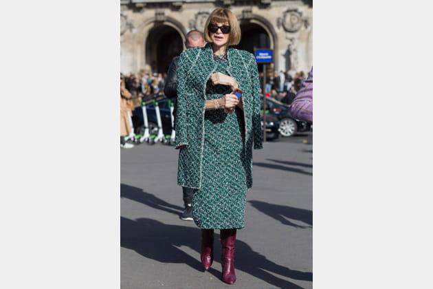 Anna Wintour pendant la Fashion Week de Paris