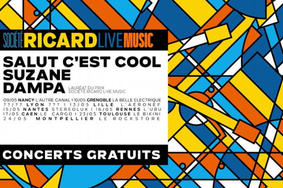 Société Ricard Live Music paye sa tournée