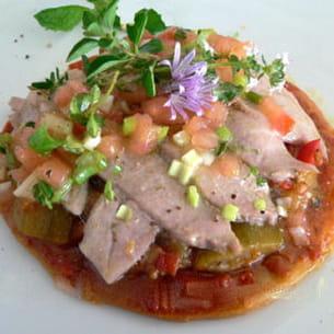 tarte fine au thon à la provençale