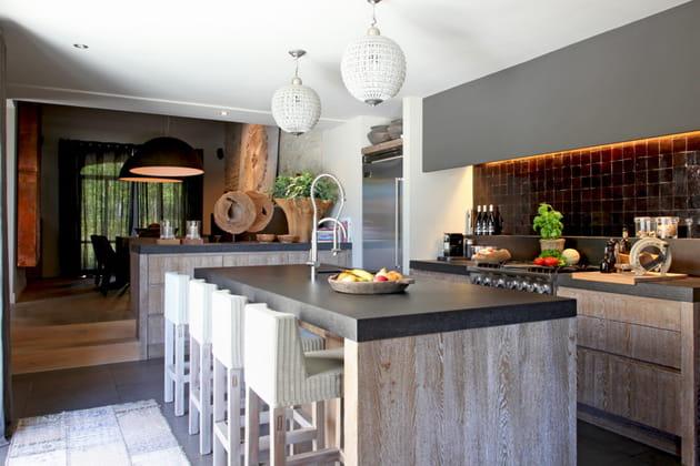 Une cuisine ouverte en enfilade