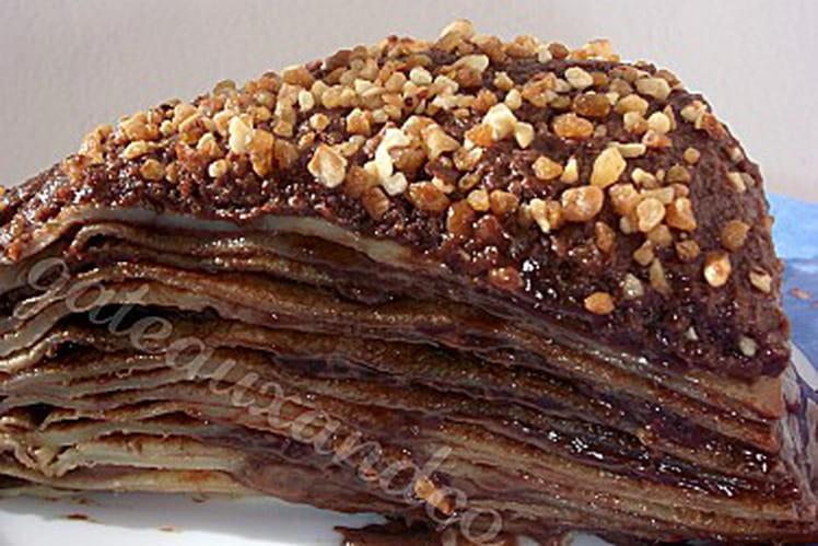 Gâteau de crêpes sucré