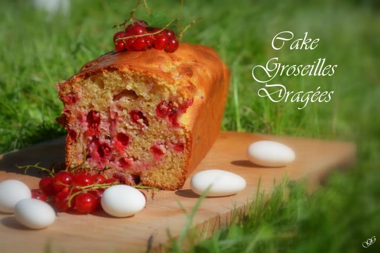 Cake aux groseilles et ses dragées