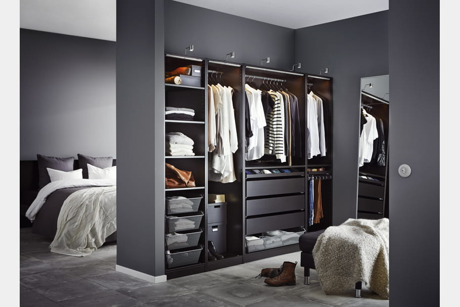 dressing ikea ouvert. Black Bedroom Furniture Sets. Home Design Ideas