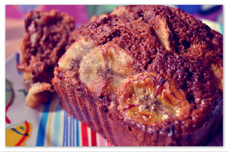 Cake au lait Ribot, Ovomaltine® et bananes