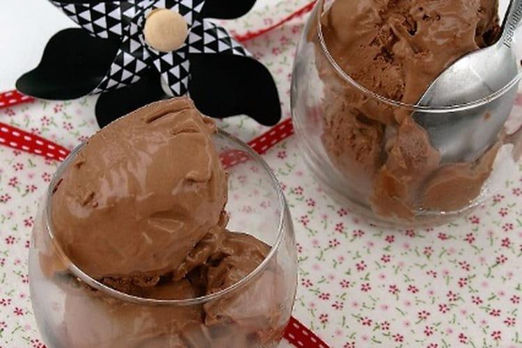 Glace au cacao Bio, sans oeufs et sans gluten