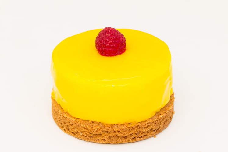 Tartelette acidulée craquante citron framboise