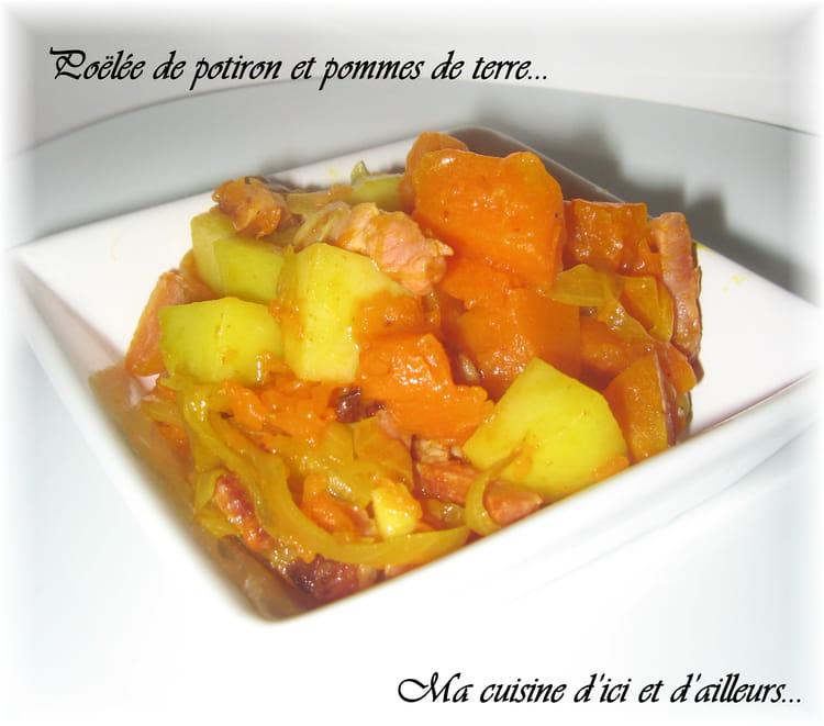 recette de poêlée de potiron et pommes de terre : la recette facile