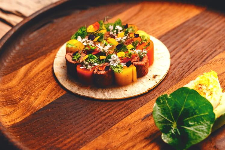 Tacos basques au piment d'espelette, au piment vert doux d'Anglet et aux poivrons doux