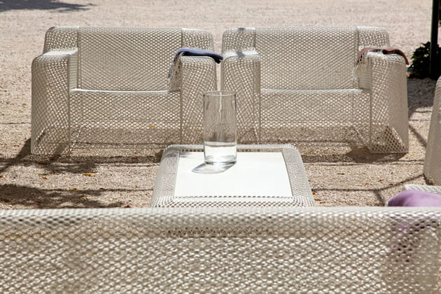 Salon de jardin blanc