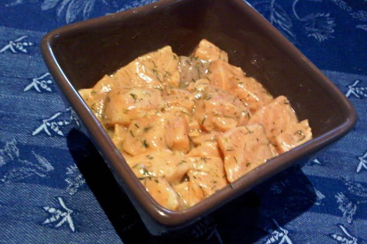 Tartare de saumon aneth et citron