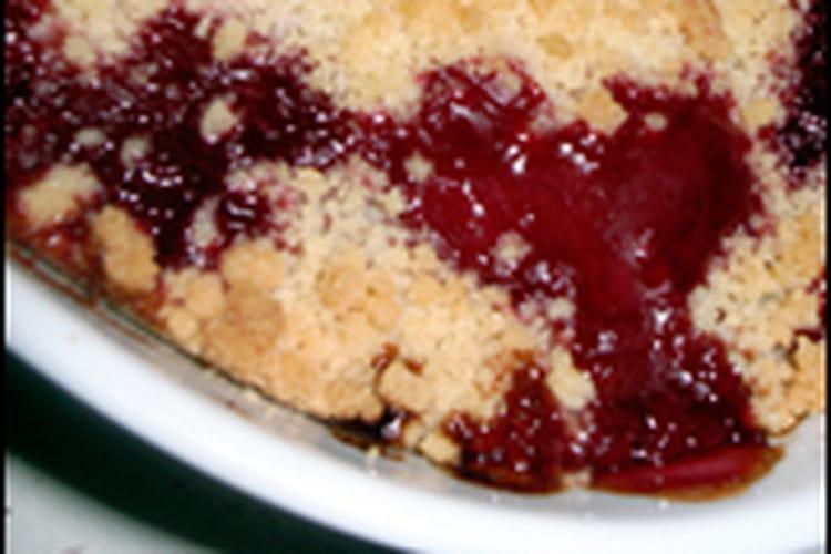 Crumble aux prunes rouges