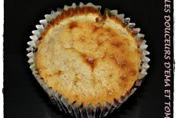 Muffins pêches cannelle