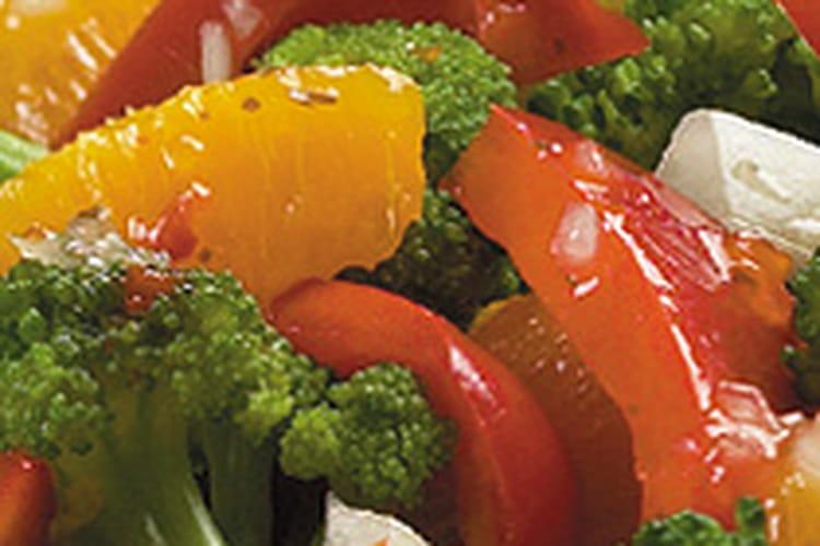 Salade de brocolis aux pamplemousses roses