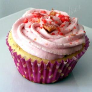 cupcakes citron vert-pavot, chantilly framboise