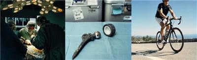 a gauche, le pr robert judet, hôpital raymond poincaré. au centre, la première