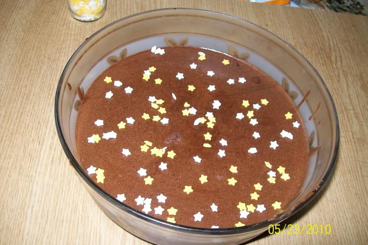 Mousse au chocolat et à la crème fraîche