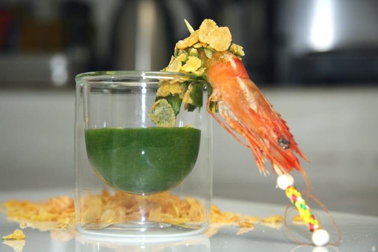 Verrines de sauce à la mâche et au citron vert