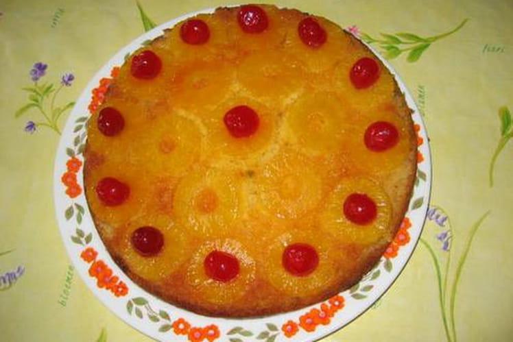Gâteau renversé à l'ananas express