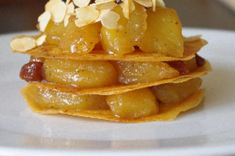 Pastilla aux pommes caramélisées