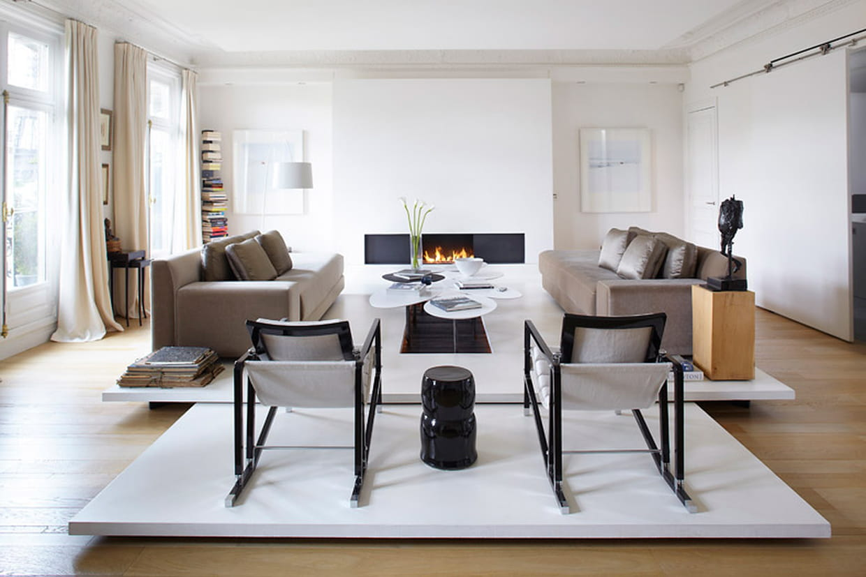 Modernisation chic dans un grand appartement for Deco appartement chic