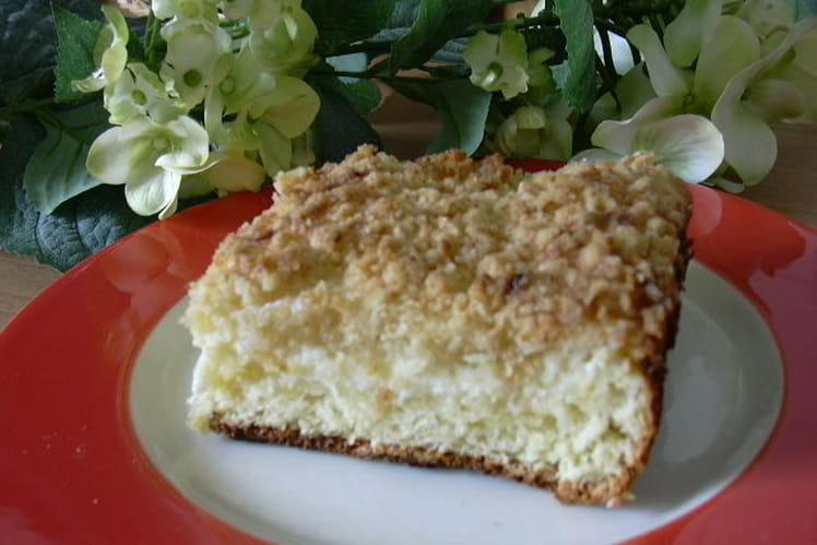 Tarte au fromage blanc et au streusel