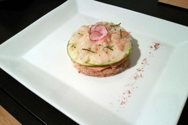 Carpaccio de saint-jacques et foie gras