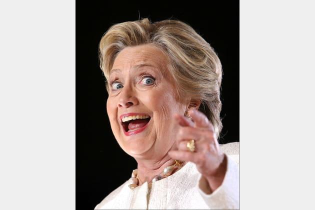 Hillary Clinton, à peine flippante