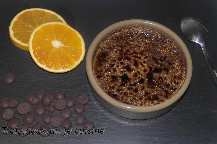 Crème brûlée chocolat/orange
