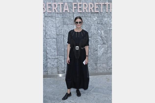 Olivia Palermo au défilé Alberta Ferretti