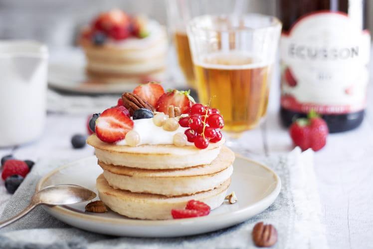 Pancakes fluffy et sirop de miel au cidre doux Ecusson