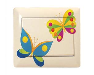 interrupteur décoré 'papillons'