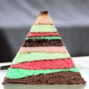 gâteau multi-couches façon lapis cake