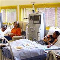 groupe d'enfants dialysés.